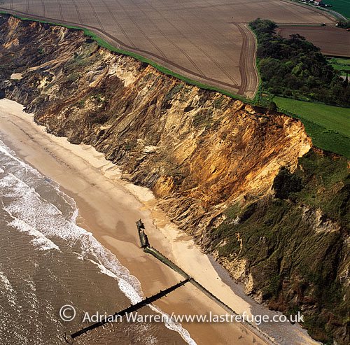 Erode Cliffs east of Overstrand, Norfolk, England