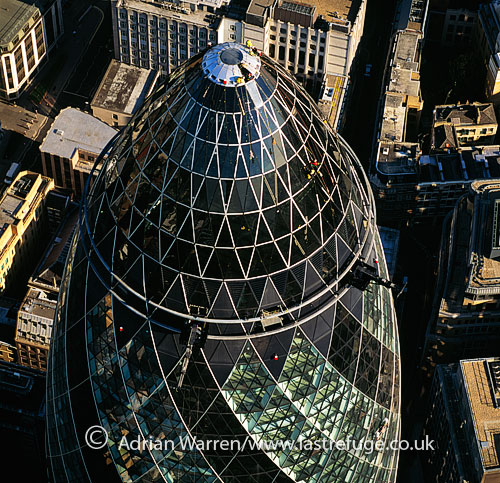 30 St Mary Axe (also Gherkin or Swiss Re), London , England