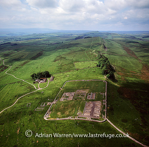 Housesteads Roman Fort or Vercovicium, an auxiliary castra on Hadrian's Wall, Bardon Mill in the English county of Northumberland, England