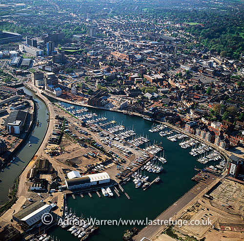 Ipswich Marina, on the estuary of the River Orwell, Suffolk, England