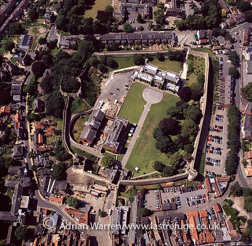Lincoln Castle, Lincoln, Lincolnshire: William the Conqueror on the site of a pre-existing Roman fortress, England