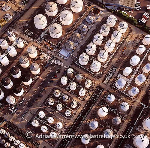 Oil Depot at Perfeet, Essex, England