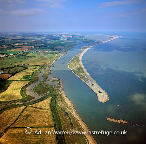 Orford Ness, Suffolk: a shingle spit formed by longshore drift along the coast linked to the mainland at Aldeburgh and stretching along the coast to Orford. , England
