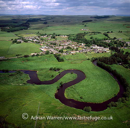 Otterburn, on the banks of the River Rede, Northumberland, England