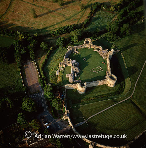 Pevensey Castle, a medieval castle and former Roman fort, Pevensey, East Sussex, England