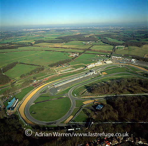 Brands Hatch, a motor racing circuit in Kent, England