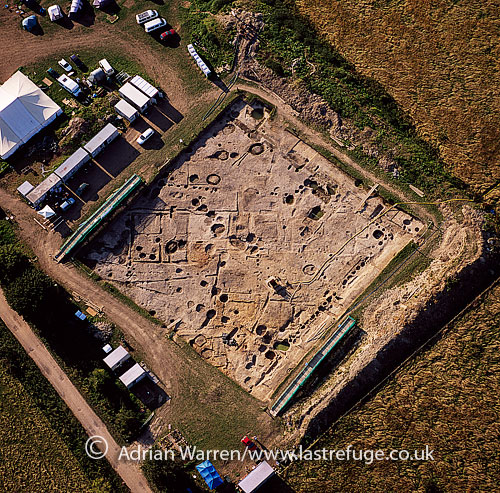 Silchester Insula IX August 2007, a research and training excavation site, Silchester Roman Town (Calleva Atrebatum), Hampshire, England