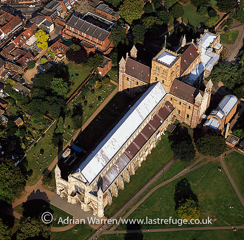 St Albans Cathedral, an Anglican church, St Albans, Hertfordshire, England