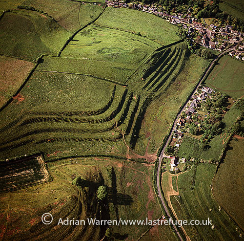 Medieval Strip lynchets near Uploaders, Dorset, England