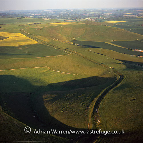 Wansdyke (from Woden's Dyke), at Tan Hill, Wiltshire, England