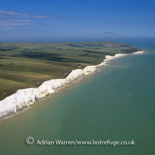 White Cliffs near Seven Sisters, East Sussex, South east england, England