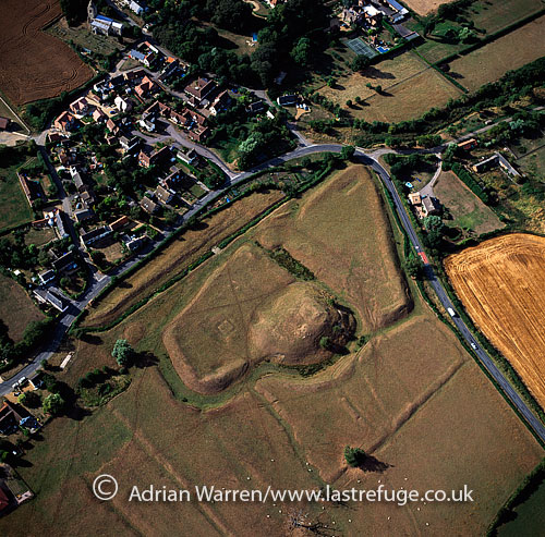 Yielden Castle, 12th Century motte and bailey castle - only earthworks remain, Bedfordshire, England