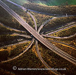 M25/M23 Motorway Junction, Surrey, England