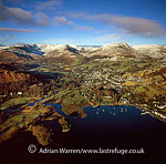 Ambleside and Windermere Lake, District National Park, Cumbria, England