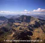Snowdon, the highest mountain in Wales, Snowdonia National Park, Gwynedd, North Wales