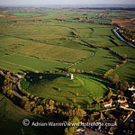 Burrow Mump, a hill and historic site, Burrowbridge, South Somerset, England