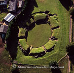 Caerleon Amphitheatre (Isca Augusta), a legionary fortress in the Roman province of Britannia, Caerleon, near Newport in south-east Wales.
