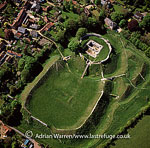 Castle Acre Castle, motte-and-bailey norman castle, with extensive earthworks, Castle Acre, Norfolk, East Anglia, England