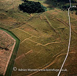 Celtic field system on Fyfield Down, East of Avebury, Wiltshire, England