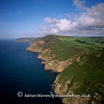 Hangman Point, north east of Combe Martin Bay, looking east, England