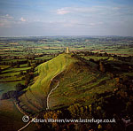 Glastonbury Tor and St Michael's Tower, Somerset, England