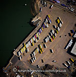 Freght containers, Cliff Quay, Maidenhall Marina, Ipswich, on the estuary of the River Orwell, Norfolk, England