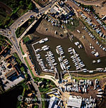 Maidenhall Marina, Ipswich, on the estuary of the River Orwell, Norfolk, England