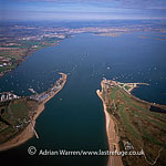 Langstone harbour, an English inlet of the English Channel, sandwiched between Portsea Island and Hayling Island, east of Portsmouth, England