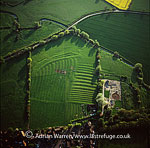 Ridge and Furrow at Leckhampstead, Buckinghamshire, England