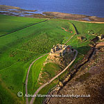 Lindisfarne Castle, a 16th-century castle, on Holy Island, near Berwick-upon-Tweed, Northumberland, England