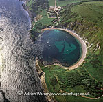 Lulworth Cove, a natural landform harbour, near West Lulworth, on the Jurassic Coast World Heritage Site, Dorset, England