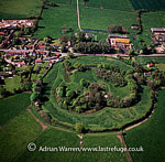 Mileham Castle, a ruined Norman castle, near the site of the Roman Camp, between East Dereham and Fakenham, Norfolk, England