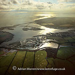 Pagham Harbour, a natural harbour, south of the city of Chichester and near the towns of Pagham and Selsey, West Sussex, England