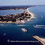 Sandbanks, a small piece of land jutting out over the mouth of Poole Harbour on the English Channel coast, Poole, Dorset, England