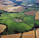 Stanwick Iron Age Fortifications (Stanwick Camp), a huge Iron Age hill fort with 9 kilometers of ditches and ramparts enclosing 300 hectares of land, Richmondshire, North Yorkshire, England