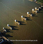 The Thames Barrier, a flood control structure on the River Thames, Woolwich Reach, London, England