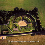 Verulamium Roman Amphitheatre, south west of the modern city of St Albans in Hertfordshire, England