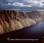 The precipitous screes at Wastwater (Wast Water), Lake District National Park, Cumbria, England