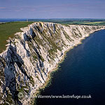 White Cliffs at Tneeyson Down, west of Compton Bay, Isle of Wight, England