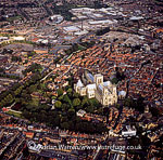 York Minster and Roman Wall, York, England