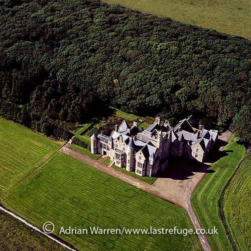 ... : Balfour Castle, southwest of Shapinsay, Orkney Islands, Scotland