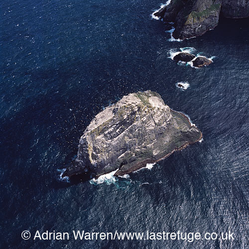 Stac an Armin, Boreray, an uninhabited island in the St Kilda archipelago, Outer Hebrides, West Coast Scotland
