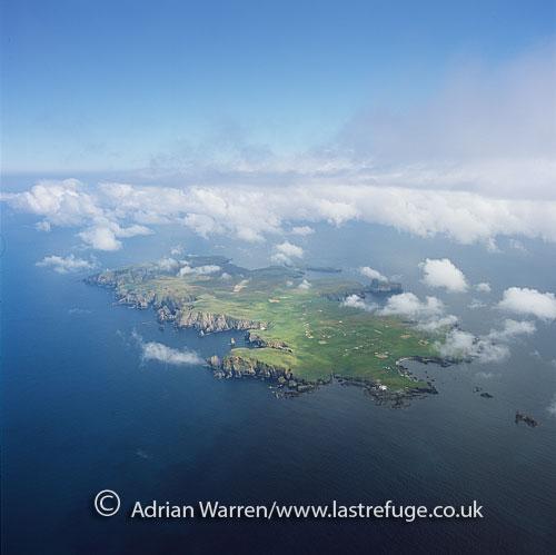 Last Refuge aerial image search: Fair Isle, an island, halfway ...