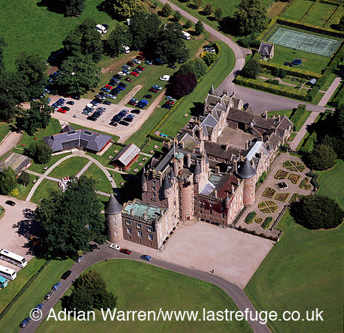 Glamis Castle, village of Glamis, Angus, Lowlands, Scotland