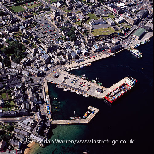 Lerwick, the only burgh and main port of the Shetland, on east coast of shetland mainland, Shetland Islands, Scotland