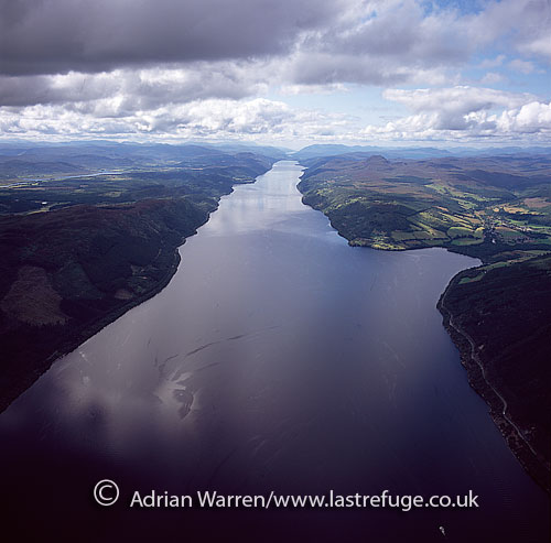 Loch Ness, a large, deep freshwater loch in the Scottish Highlands, southwest of Inverness, Highlands, Scotland