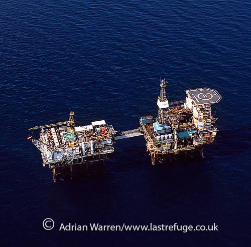 Beatrice Oil Platform (oil rig), North Sea, Lowlands, Scotland