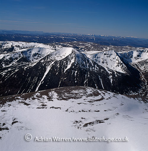 Cairn Toul seen from Ben Macdui, Cairngorms, Highlands, Scotland