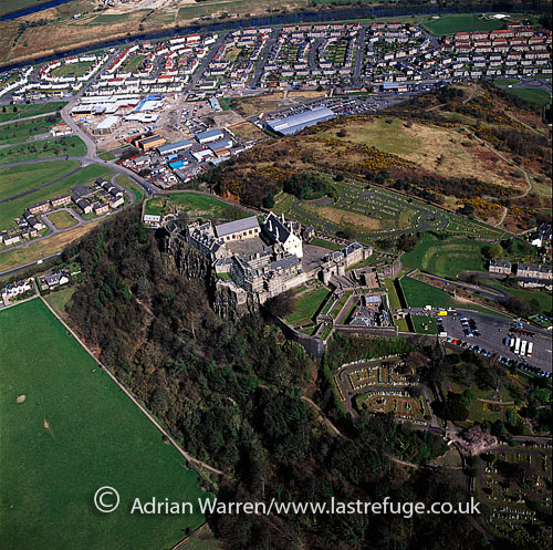 Stirling Castle, Stirling, sits atop the Castle Hill, a volcanic crag, Lowlands, Scotland