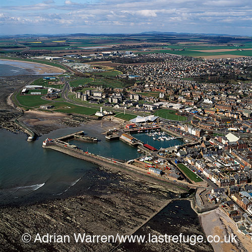 Arbroath and harbour, Arbroath, Angus, Scotland, Lowlands, Scotland
